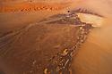 Namibia, Namib Desert, Skeleton Coast, aerial view of a dry flood plain at the eastern edge of Namib Desert