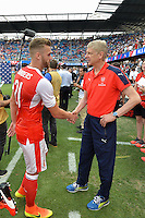 San Jose, CA - Thursday July 28, 2016: Calum Chambers, Arsene Wenger during a Major League Soccer All-Star Game match between MLS All-Stars and Arsenal FC at Avaya Stadium.