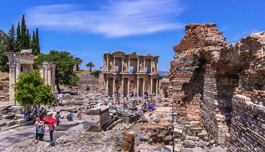The Ancient Ruins Of Ephesus In Kusadasi Turkey Darrell Uruski