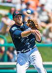 14 March 2016: Atlanta Braves pitcher Jim Johnson makes a throw to first in the 5th inning of a Spring Training pre-season game against the Tampa Bay Rays at Champion Stadium in the ESPN Wide World of Sports Complex in Kissimmee, Florida. The Braves shut out the Rays 5-0 in Grapefruit League play. Mandatory Credit: Ed Wolfstein Photo *** RAW (NEF) Image File Available ***