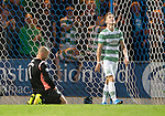 St Johnstone v Celtic...13.08.14  SPFL<br /> Alan Mannus on his knees after his mistake in letting Callum McGregor's shot squirm under him for the third goal<br /> Picture by Graeme Hart.<br /> Copyright Perthshire Picture Agency<br /> Tel: 01738 623350  Mobile: 07990 594431