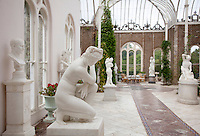 A combined sculpture gallery and conservatory designed by William Burn was added to Killruddery in 1852 to house the 10th Earl's collection of marble sculpture