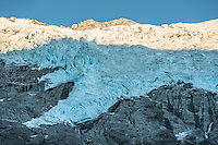Rob Roy Glacier in Matukituki Valley, Mount Aspiring National Park, Central Otago, World Heritage Area, New Zealand