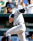 New York Yankees third baseman Alex Rodriguez (13) grounds into a double play to end the game against the Baltimore Orioles at Oriole Park at Camden Yards in Baltimore, Maryland in the first game of a doubleheader on Sunday, August 28, 2011.  The Orioles won the game 2 - 0..Credit: Ron Sachs / CNP.(RESTRICTION: NO New York or New Jersey Newspapers or newspapers within a 75 mile radius of New York City)