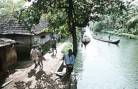 A village in Alleppey, Kerala, India.