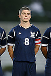 01 October 2013: UNCW's Michael Parrish. The Duke University Blue Devils hosted the University of North Carolina Wilmington Seahawks at Koskinen Stadium in Durham, NC in a 2013 NCAA Division I Men's Soccer match. UNCW won the game 2-1.