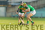 James Godley Kerry in action against Dan Morrissey Limerick in the Munster Hurling League Round 4 at the Gaelic Grounds, Limerick on Sunday.