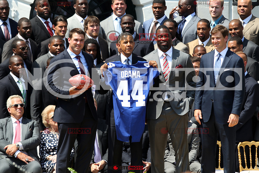 June 8, 2012 The New York Giants visit the White House as President Barack Obama honors the Super Bowl Champs. © mpi34/MediaPunch Inc. NORTEPHOTO.COM