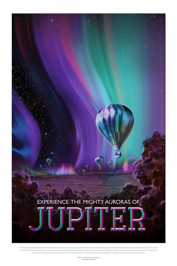 Interplanetary Tourism Poster series created by NASA JPL (Jet Propulsion Laboratory) - creative common use permitted.