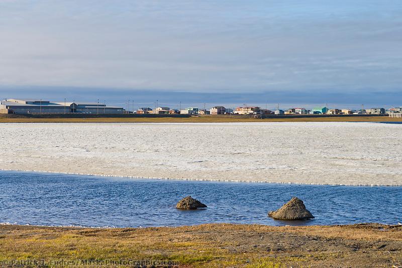 Native Alaska Inupiaq eskimo village of Barrow, Alaska.