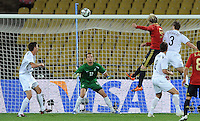 Fernando Torres of Spain scores his side's third goal. Spain defeated New Zealand 5-0 during the FIFA Conferderations Cups at Royal Bafokeng Stadium, in Rustenburg South Africa on June 14, 2009.