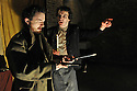 "London, UK. 18/04/2011. Belt Up Theatre's all male production of ""MacBeth"" opens at The House of Detention, Clerkenwell, London. Dominic Allen as 'MacBeth' and James Wilkes as 'Lady MacBeth'. Photo credit should read: JANE HOBSON"