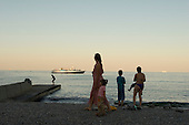 Odessa, Ukraine<br /> August 22, 2005 <br /> <br /> Sunset on the beach front.