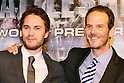 Taylor Kitsch and Peter Burg, Apr 03, 2012 : TOKYO, JAPAN - attends the 'Battleship' Japan Premiere at International Yoyogi first gymnasium on April 3, 2012 in Tokyo, Japan.