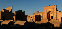 Panoramic view of the Necropolis of the Memorial complex of Chor-Bakr, 16th century, Bukhara, Uzbekistan, pictured on July 10, 2010, in the late afternoon light.  Bukhara, a city on the Silk Route is about 2500 years old. Its long history is displayed both through the impressive monuments and the overall town planning and architecture.