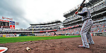 24 September 2011: Atlanta Braves outfielder Jason Heyward stands on deck during game action against the Washington Nationals at Nationals Park in Washington, DC. The Nationals defeated the Braves 4-1 to even up their 3-game series. Mandatory Credit: Ed Wolfstein Photo