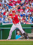 19 September 2015: Washington Nationals first baseman Tyler Moore stands at bat during a game against the Miami Marlins at Nationals Park in Washington, DC. The Nationals defeated the Marlins 5-2 in the third game of their 4-game series. Mandatory Credit: Ed Wolfstein Photo *** RAW (NEF) Image File Available ***