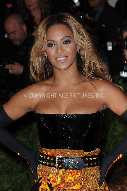 WWW.ACEPIXS.COM . . . . . .May 6, 2013...New York City.....Beyonce Knowles attending the PUNK: Chaos to Couture Costume Institute Benefit Gala at The Metropolitan Museum of Art in New York City on May 6, 2013  in New York City ....Please byline: Kristin Callahan...ACEPIXS.COM...Ace Pictures, Inc: ..tel: (212) 243 8787 or (646) 769 0430..e-mail: info@acepixs.com..web: http://www.acepixs.com .