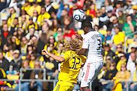 27 MARCH 2010:  Steven Lenhart of the Columbus Crew (32) and Nana Attakora of Toronto FC (3) during the Toronto FC at Columbus Crew MLS game in Columbus, Ohio on March 27, 2010.