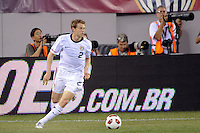 Jonathan Spector (2) of the United States. The men's national team of Brazil (BRA) defeated the United States (USA) 2-0 during an international friendly at the New Meadowlands Stadium in East Rutherford, NJ, on August 10, 2010.