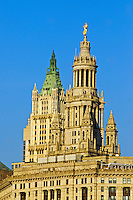 Municipal Building and Woolworth Building, Manhattan, New York City, New York, USA