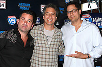 "LOS ANGELES - MAY 31:  Dan Dunn, Ray Romano, Tom Caltabiano celebrating the DVD release of ""95 Miles to Go"" at Baby Blues BBQ Resturant on May 31, 2012 in Hollywood, CA"