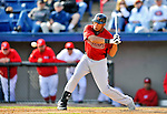 4 March 2012: Houston Astros' infielder Jonathan Singleton in action against the Washington Nationals at Space Coast Stadium in Viera, Florida. The Astros defeated the Nationals 10-2 in Grapefruit League action. Mandatory Credit: Ed Wolfstein Photo
