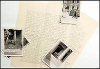 BNPS.co.uk (01202 558833)<br /> Pic: C&amp;T/BNPS<br /> <br /> Brenda's account of her visit to Berlin.<br /> <br /> A humble secretary's remarkable first hand archive of some of the most momentous events of WW2 has come to light.<br /> <br /> 'Miss Brenda Hart' worked in the Cabinet Office during the last two years of the war, travelling across the globe with the Allied leaders as the conflict drew to a close.<br /> <br /> Her unique collection of photographs and momentoes of Churchill, Stalin and other prominent Second World War figures have been unearthed after more than 70 years.<br /> <br /> The scrapbooks, which also feature Lord Mountbatten and Vyacheslav Molotov, were collated by Brenda Hart who, in her role as secretary to Churchill's chief of staff General Hastings Ismay, enjoyed incredible access to him and other world leaders.<br /> <br /> She also wrote a series of letters which give fascinating insights, including watching Churchill and Stalin shaking hands at the Bolshoi ballet in 1944, being behind Churchill as he walked out on to the balcony at the Ministry of Health to to wave to some 50,000 Londoners on VE day and even visiting Hitler's bombed out Reich Chancellery at the end of the war.<br /> <br /> This unique first hand account, captured in a collection of photos, passes, documents and letters are being sold at C&amp;T auctioneers on15th March with a &pound;1200 estimate.