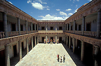 Interior courtyard of the Alhondiga de Granaditas in the city of Guanajuato, Mexico