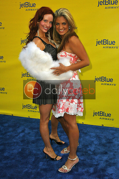 Phoebe Price and Bridgetta Tomarchio<br /> at the launch of Jet Blue out of Burbank and 25th anniversary screening of &quot;Airplane&quot; at Warner Bros. Studios, Burbank, CA 06-13-05<br /> David Edwards/DailyCeleb.Com 818-249-4998