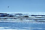 Kitesurfing in the Atlantic Ocean, Morocco.