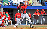 4 March 2012: Houston Astros' outfielder J.D. Martinez smacks a 3-run homer to left field in the 3rd inning off Tom Gorzelanny of the Washington Nationals at Space Coast Stadium in Viera, Florida. The Astros defeated the Nationals 10-2 in Grapefruit League action. Mandatory Credit: Ed Wolfstein Photo
