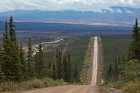 Gravel surface of the James Dalton Highway, commonly called the Haul Road, Trans Alaska oil pipeline, Alaska.