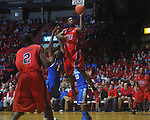 Ole Miss forward Terrance Henry (1) shoots over Kentucky's Darius Miller (1) at the C.M. &quot;Tad&quot; Smith Coliseum in Oxford, Miss. on Tuesday, February 1, 2011. Ole Miss won 71-69.