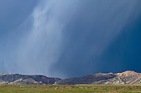 Rainstorm over the Sheep Mountain Anticline in Wyoming