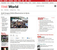 Screengrab of &quot;Syrian revolution&quot; published in TIME.com