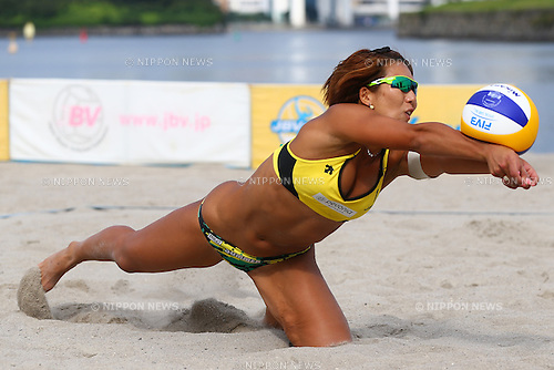 Samaa Miyagawa,<br /> SEPTEMBER 21, 2015 - Beach Volleyball : <br /> JBV Tour 2015 Tokyo Open<br /> Women's Semi-Final<br /> at Odaiba Beach, Tokyo, Japan.<br /> (Photo by Shingo Ito/AFLO SPORT)