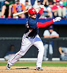 6 March 2010: Washington Nationals' third baseman Ryan Zimmerman in action during a Spring Training game against the New York Mets at Space Coast Stadium in Viera, Florida. The Mets defeated the Nationals 14-6 in Grapefruit League action. Mandatory Credit: Ed Wolfstein Photo