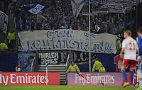 FUSSBALL   1. BUNDESLIGA    SAISON 2012/2013    14. Spieltag   Hamburger SV - FC Schalke 04                               27.11.2012 Banner der Schalker Fans mit der Aufschrift keine Kollektivstrafen