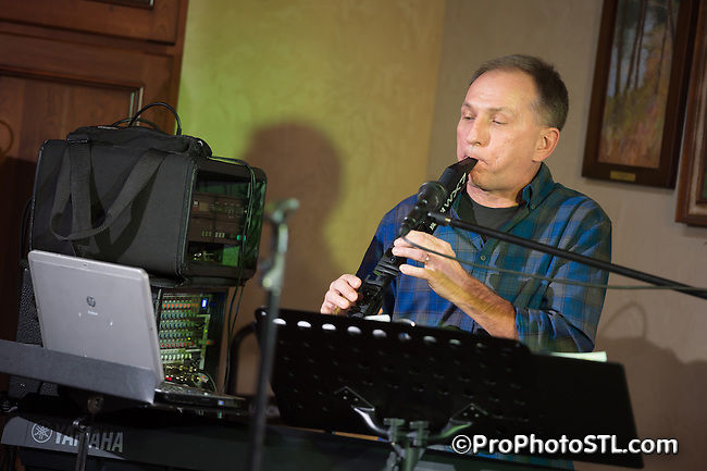 BOGO Duo (Mike and Lisa Karpowicz) in concert at  Chandler Hill Vineyards in Defiance, MO on Dec 7, 2014.