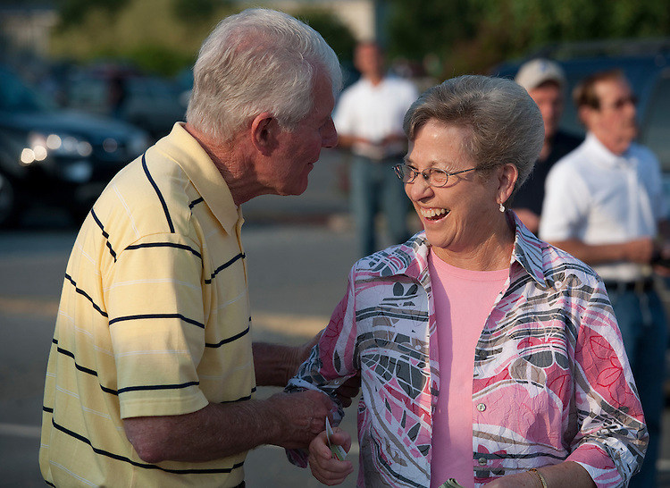 UNITED STATES - AUGUST: 25 - For two decades Harold Johnson was an outsized presence on Charlotte TV as WSOC's top sportscaster but tonight he is a 8th district republican candidate working the West Stanly vs. Albemarle Bluedog football game in Stanly North Carolina. (Photo By Douglas Graham/Roll Call via Getty Images)