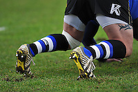 A general view of blue, black and white socks. Aviva Premiership match, between Bath Rugby and Wasps on February 20, 2016 at the Recreation Ground in Bath, England. Photo by: Patrick Khachfe / Onside Images