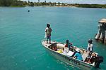 Locals fishing by dinghy at Horn Island, Torres Strait Islands, Queensland, Australia