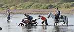 Villagers use a variety of means of transportation to cross the river at the edge of the village of Santa Paula in northwestern Nicaragua.