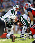 2 November 2008:  New York Jets' quarterback Brett Favre takes the snap during a game against the Buffalo Bills at Ralph Wilson Stadium in Orchard Park, NY. The Jets defeated the Bills 26-17 improving their record to 5 and 3 for the season...Mandatory Photo Credit: Ed Wolfstein Photo