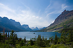 Montana, Glacier National Park. Saint Mary Lake and Wild Goose Island surrounded by the magnificent mountains of Glacier National Park.