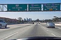 CA, Freeway, I-10, Westbound, Los Angeles CA, Skyline, Road, Freeway, Signs