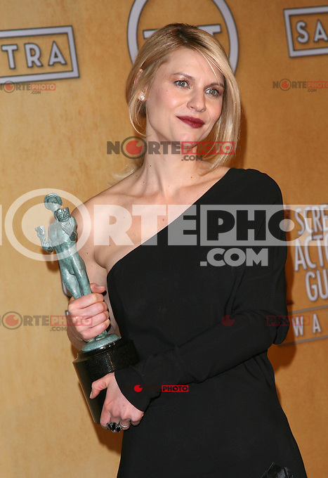 LOS ANGELES, CA - JANUARY 27: Claire Danes in the press room at The 19th Annual Screen Actors Guild Awards at the Los Angeles Shrine Exposition Center in Los Angeles, California. January 27, 2013. Credit: mpi27/MediaPunch Inc. /NortePhoto /NortePhoto