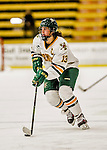 13 November 2015: University of Vermont Catamount Defender Gina Repaci, a Senior from Toronto, Ontario, in action against the Providence College Friars at Gutterson Fieldhouse in Burlington, Vermont. The Lady Friars defeated the Lady Cats 4-1 in Hockey East play. Mandatory Credit: Ed Wolfstein Photo *** RAW (NEF) Image File Available ***