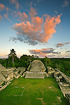 The Mayan temple of Caana at the site of Caracol